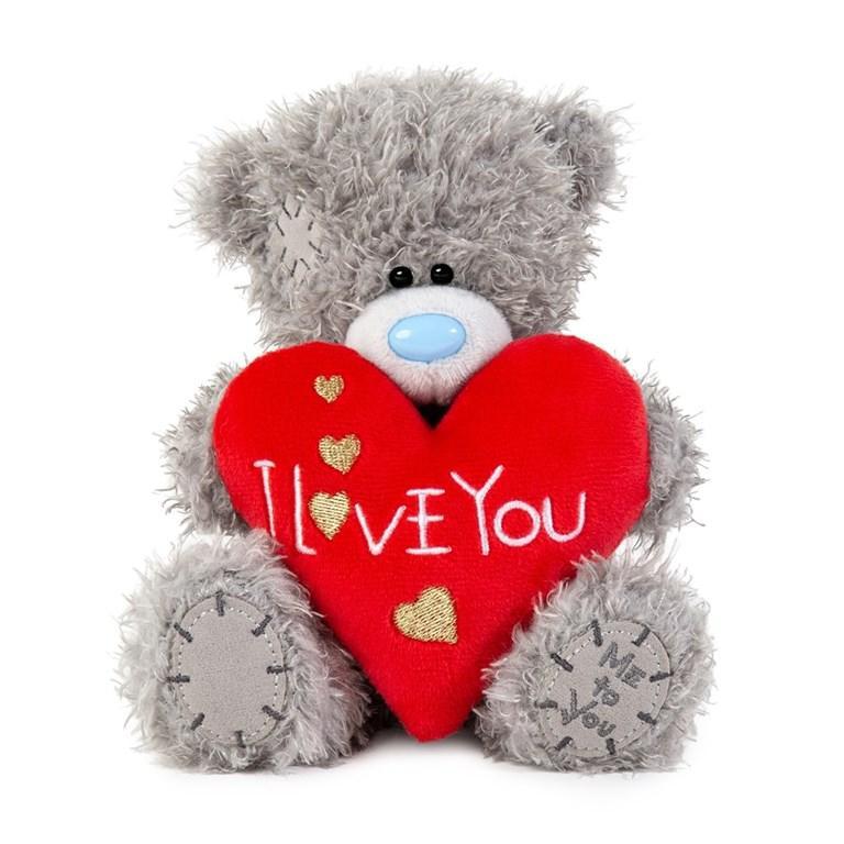 Nalle med rött hjärta I Love You, 15cm - Me to you • Pryloteket