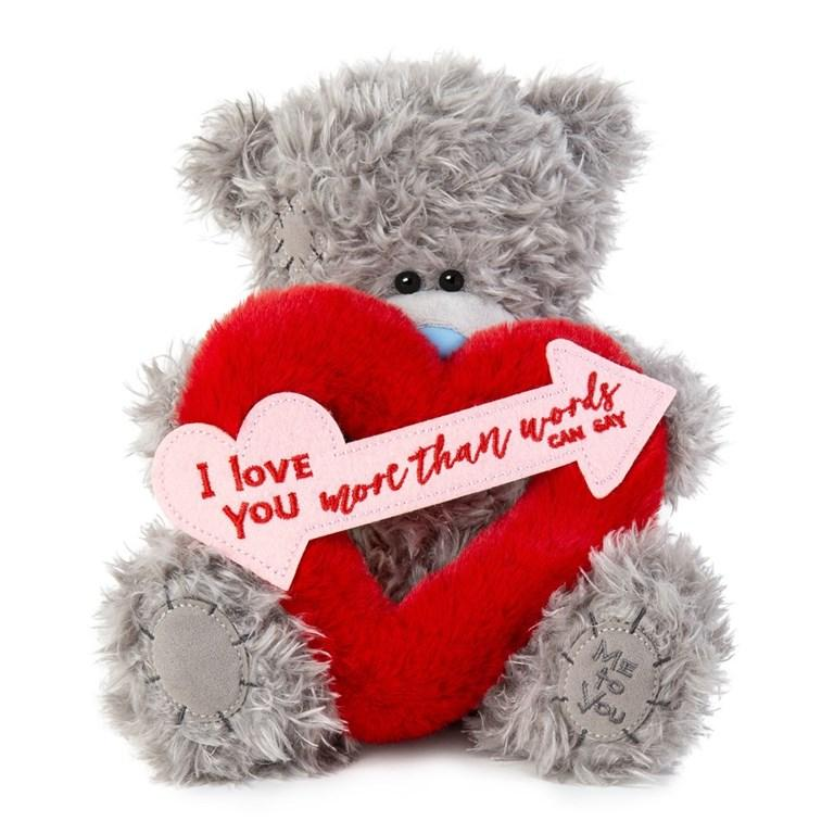 "Nalle ""I love you more than words can say"", 20cm - Me to you • Pryloteket"