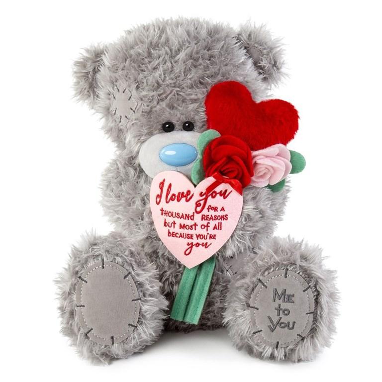 Nalle med rosor och hjärta, 30cm - Me To You • Pryloteket