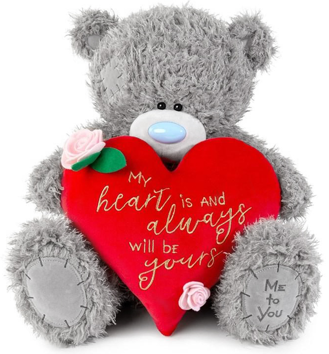 "Nalle med hjärta ""My heart is..."" , 40cm - Me to you • Pryloteket"