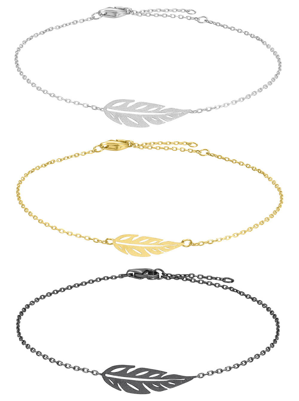 Armband Leaf - Nordahl Jewellery (Oxiderat Silver)