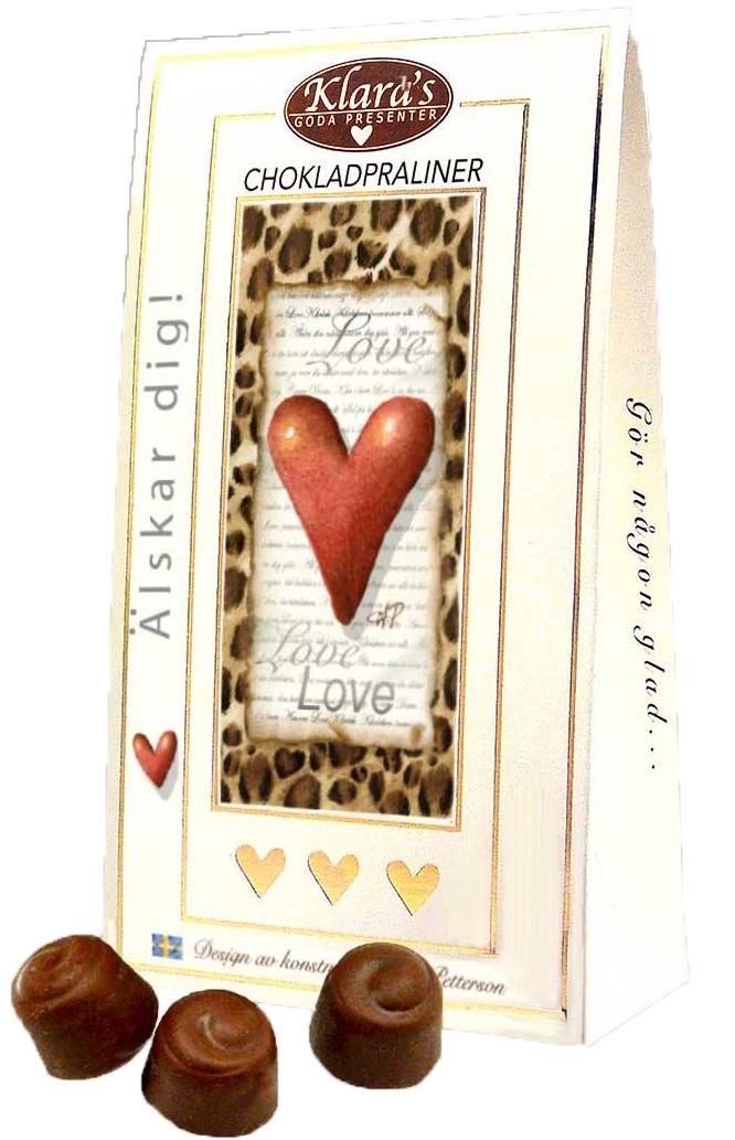 Älskar dig! - Lyxiga chokladpraliner • Pryloteket