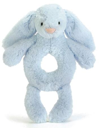 Bashful Kanin Skallra, blå - Jellycat • Pryloteket