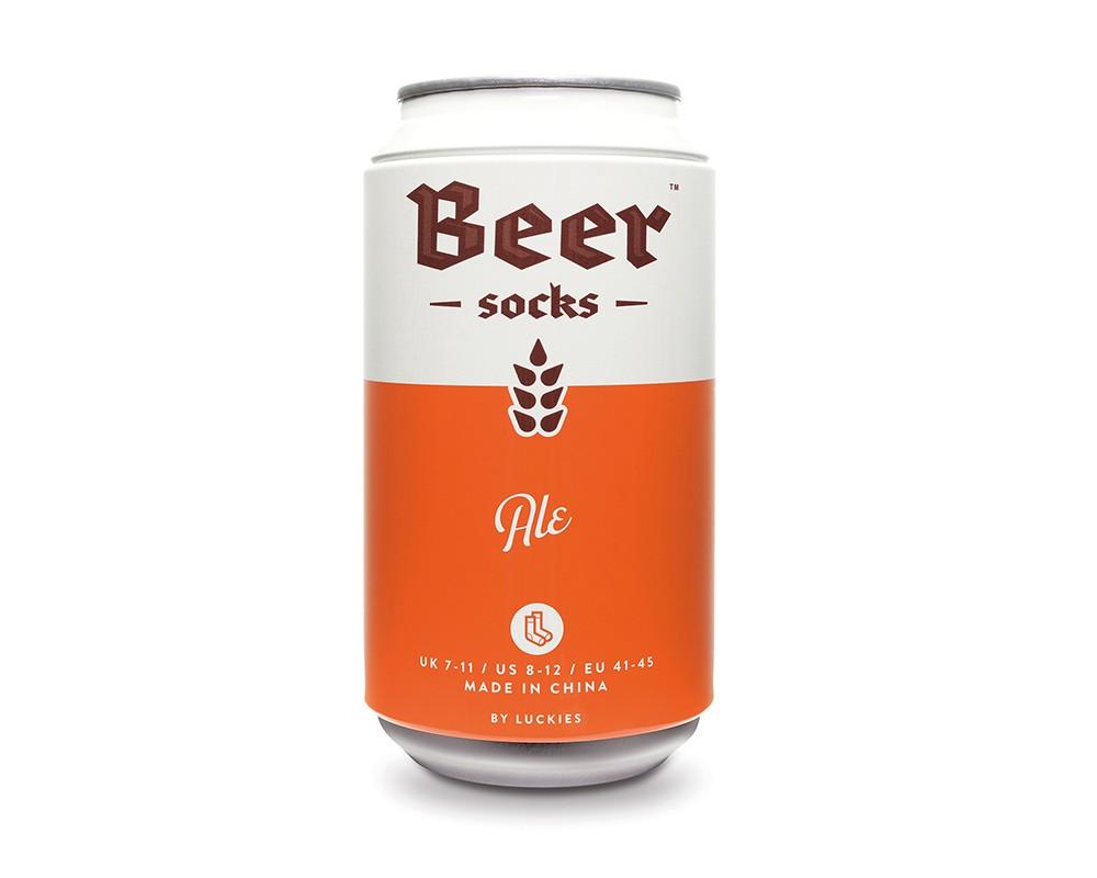Beer Socks - Ölburk med sockar (Ale (Orange)) • Pryloteket