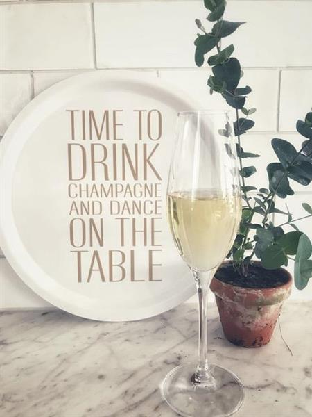 """Bricka """"Time to drink champagne"""""""