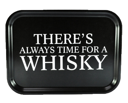 "Bricka ""Time for a whisky"" (27x20cm) • Pryloteket"