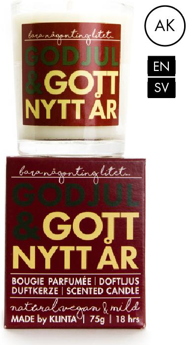 Budskapsljus God Jul & Gott Nytt År - Klinta