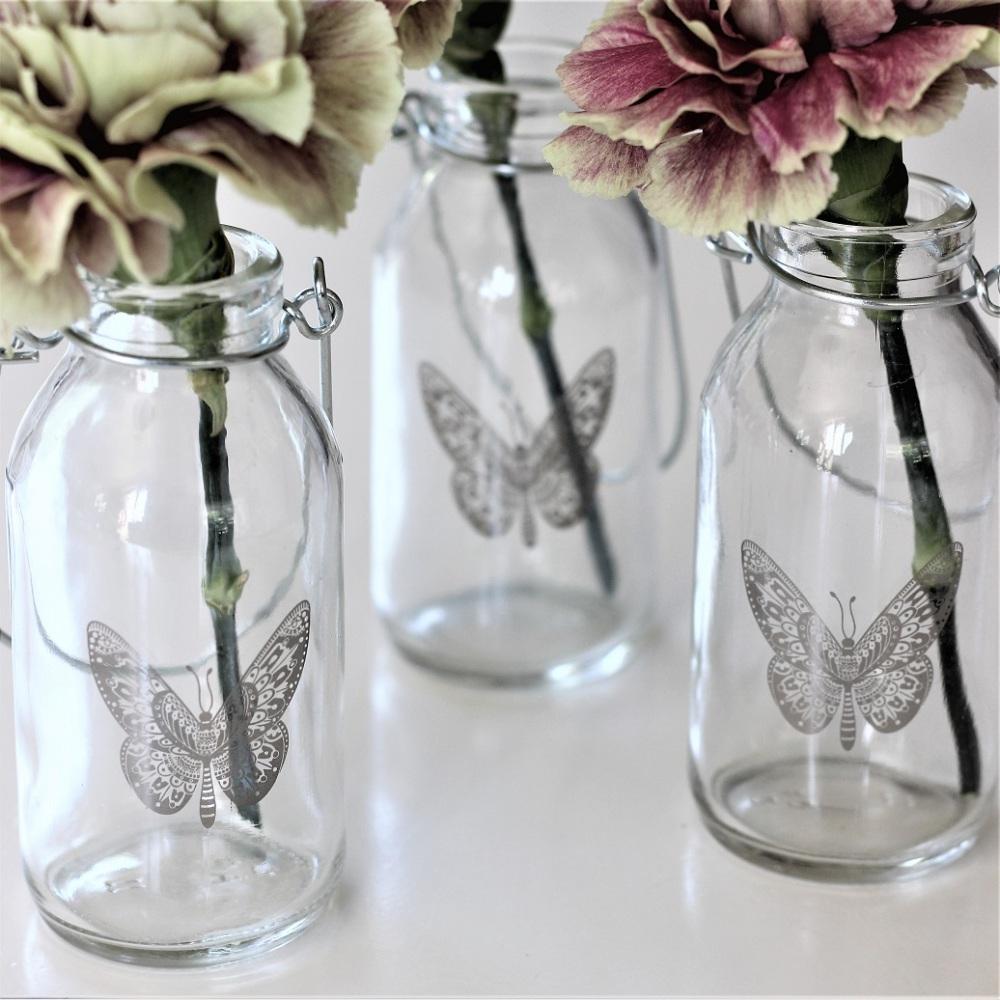 Butterfly hängande flaska - Majas lyktor/Barncancerfonden