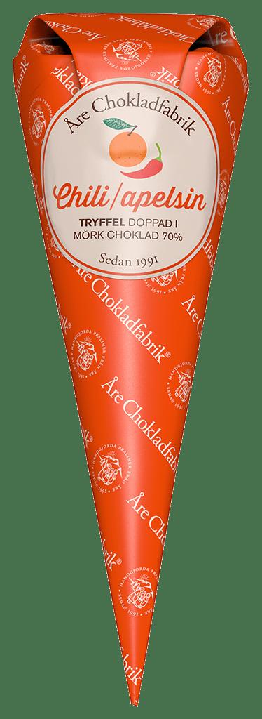 Chili/Apelsintryffel - Choklad från Åre Chokladfabrik