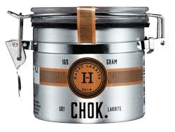 Haupt Lakrits - Chok, härlig sötlakrits doppad i mjölkchoklad och rullad i asiatiskt lakritspulver
