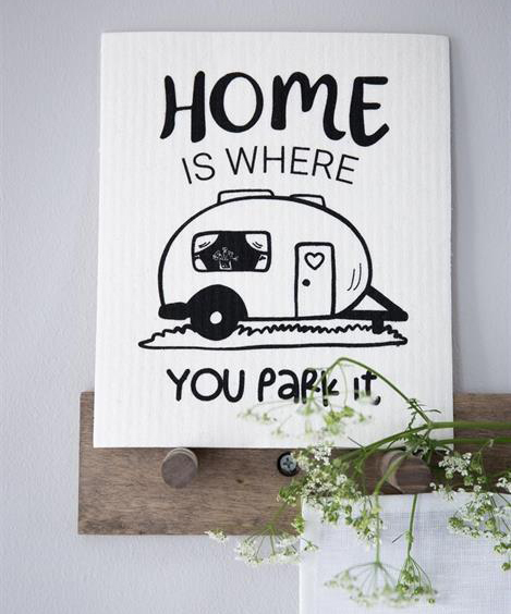 "Disktrasa Husvagn ""Home is"""