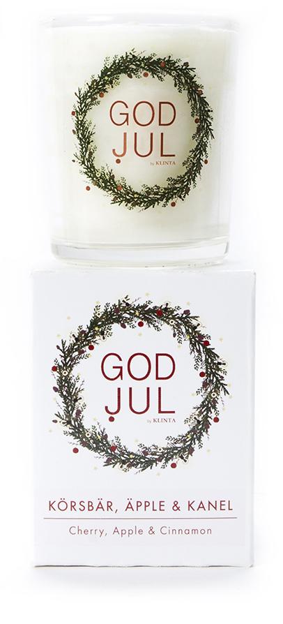 Massageljus/Doftljus Juldoft (Körsbär, Äpple, Kanel)- Klinta • Pryloteket