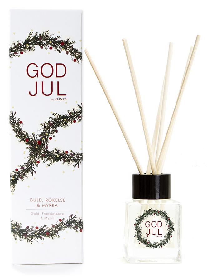 Doftpinnar Jul (Guld, rökelse & myrra) - Klinta • Pryloteket