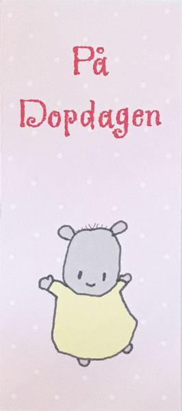 Kort, På Dopdagen, rosa - Lena Lindahl • Pryloteket