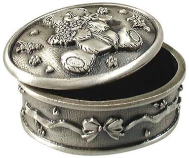 Smyckeskrin oval med nalle • Pryloteket