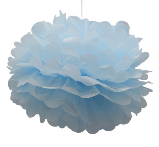 Pom Pom ljus blå