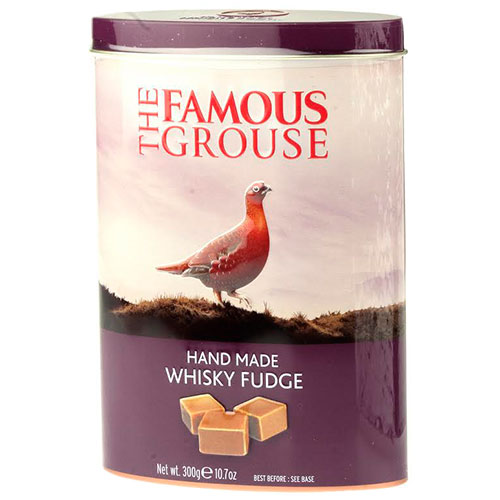 Whisky Fudge smaksatt med Famous Grouse, tillverkad av Gardiniers of Scotland