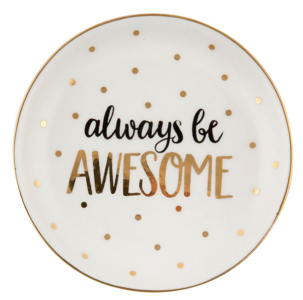 """Keramikfat """"Always be awesome"""" • Pryloteket"""