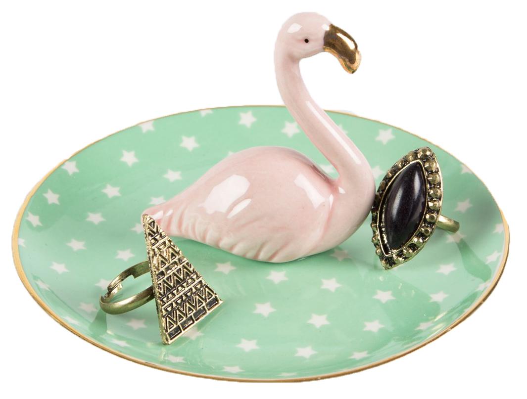 Keramikfat med flamingo • Pryloteket