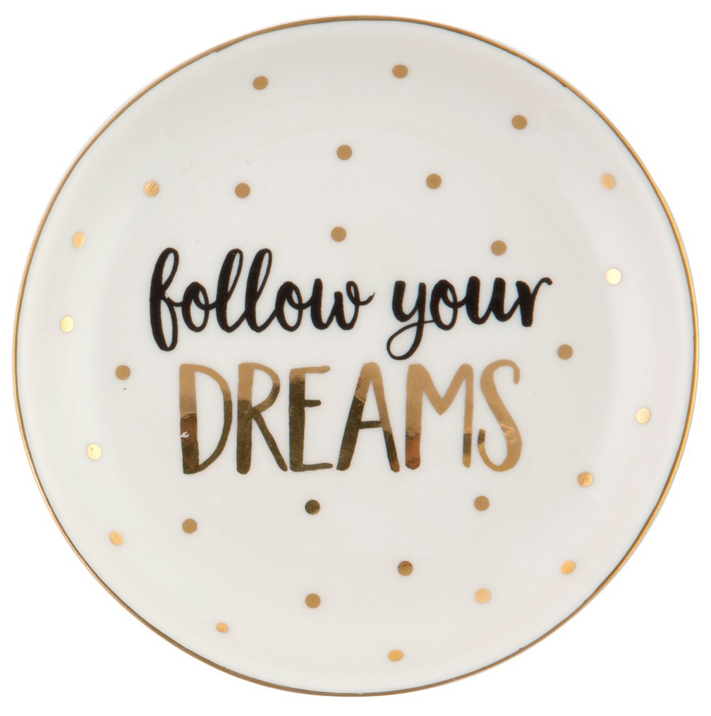 "Keramikfat ""Follow your dreams"""