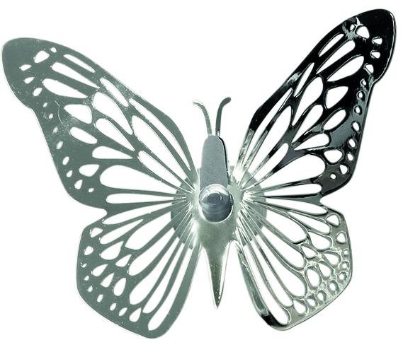 Fönsterdekoration Fjäril - Pluto Produkter (Silver)