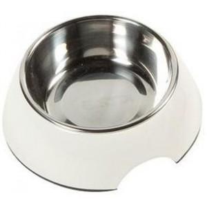 Hundskål benvit med plåtskål 350ml