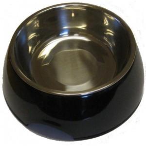 Hundskål Svart med plåtskål 350ml | Presenteriet.se