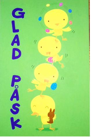 Glad Påsk - kort med kycklingar • Pryloteket