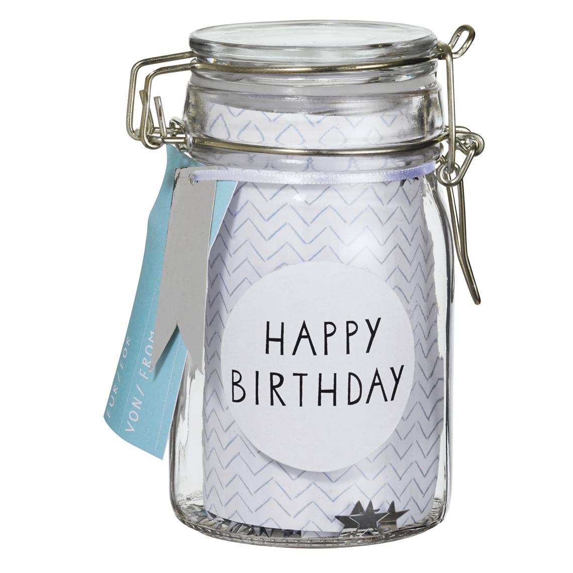 """Glasburk """"Happy Birthday"""" - Räder"""
