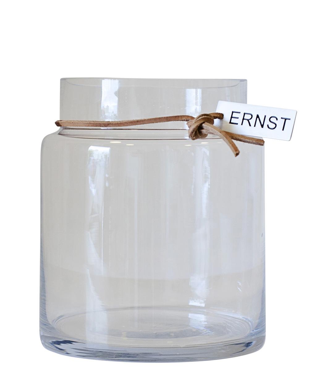 Glasvas, klarglas- Ernst Kirchsteiger (12,5 x 22,5cm) • Pryloteket