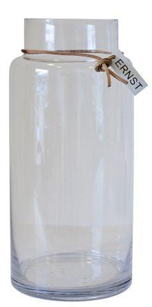Glasvas, klarglas - Ernst Kirchsteiger (11,5 x 33cm) • Pryloteket