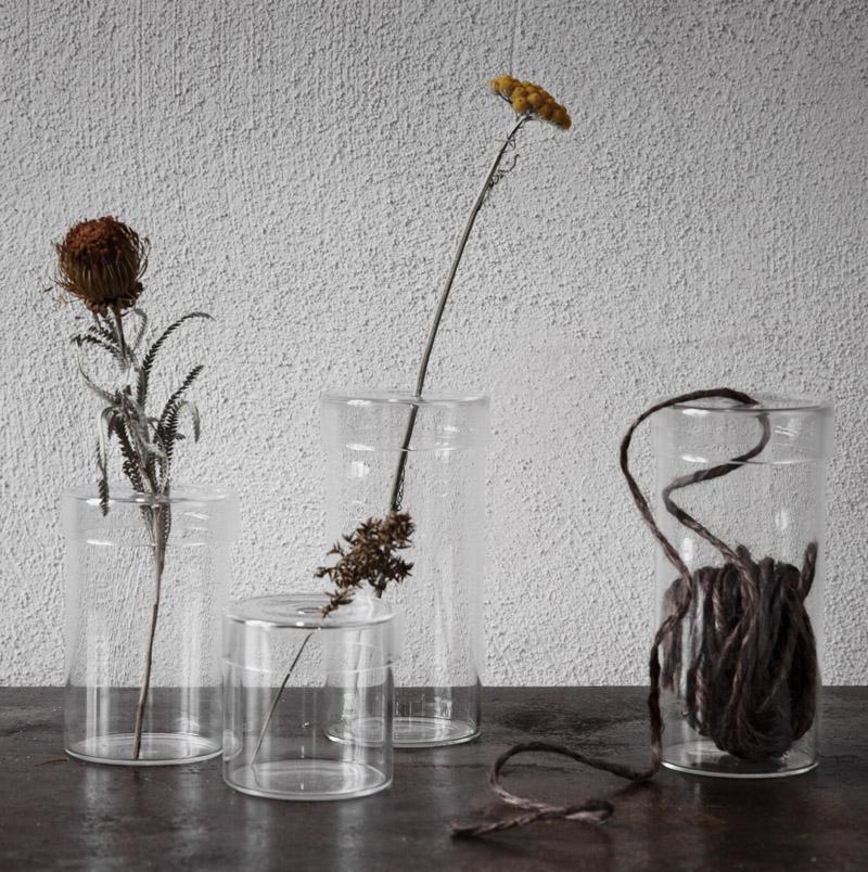 Glasvas med lock - Ernst Kirchsteiger • Pryloteket