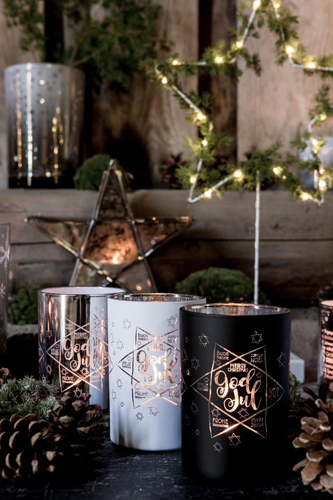 Ljuslykta God Jul - Majas lyktor/Barncancerfonden (*SLUTSÅLD* Vit) • Pryloteket