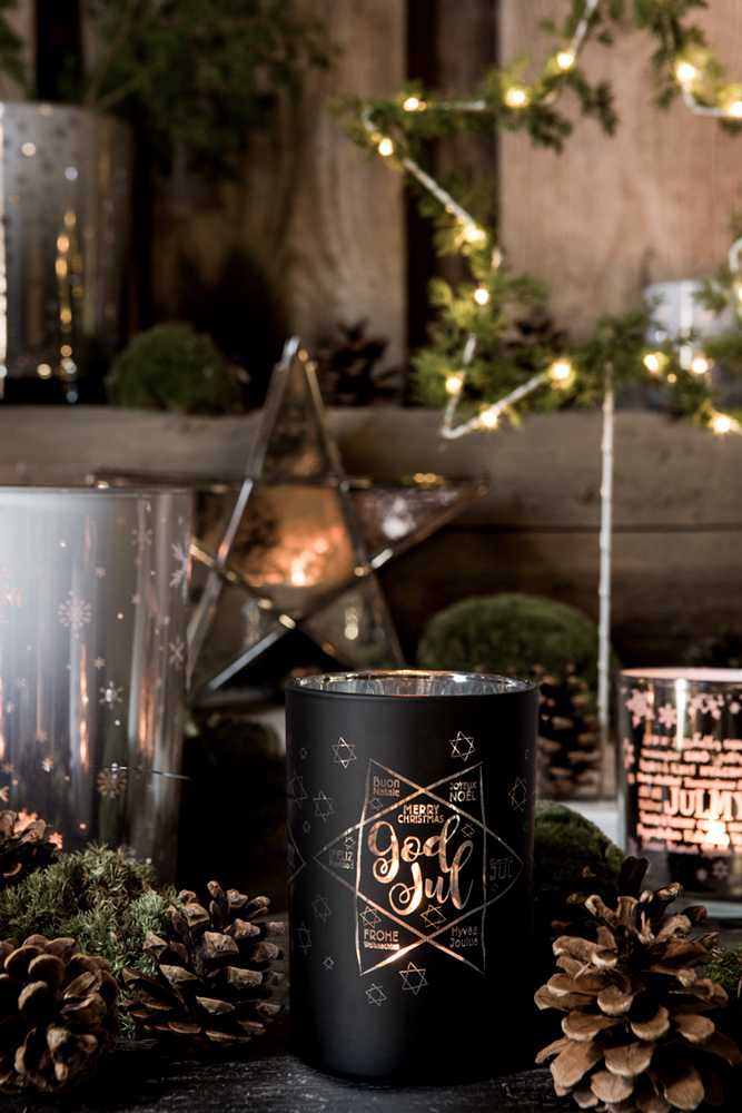 Ljuslykta God Jul - Majas lyktor/Barncancerfonden
