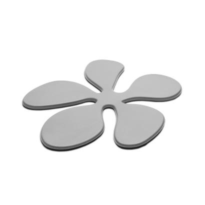 Glasunderlägg Blomma i silikon, grå - KG Design