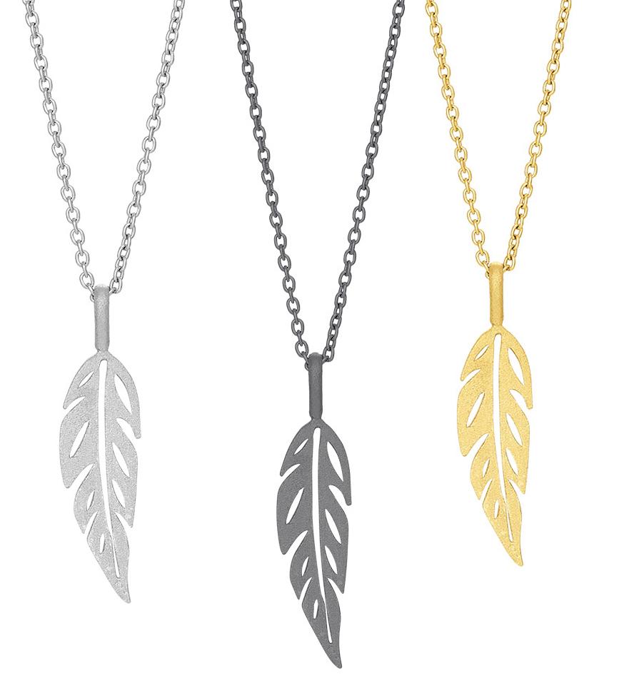 Halsband Leaf - Nordahl Jewellery (Silver)