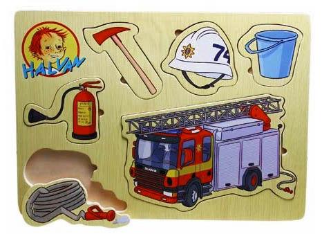 Halvan Brandbilspussel