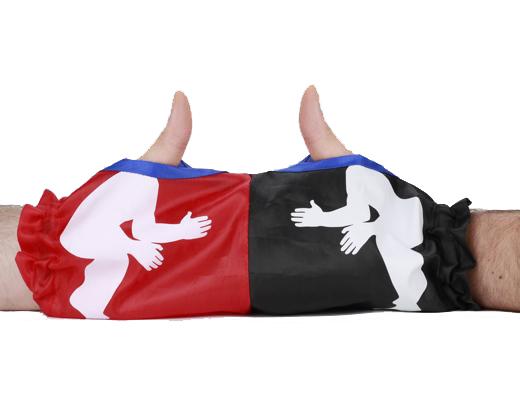 Handske för tumbrottning