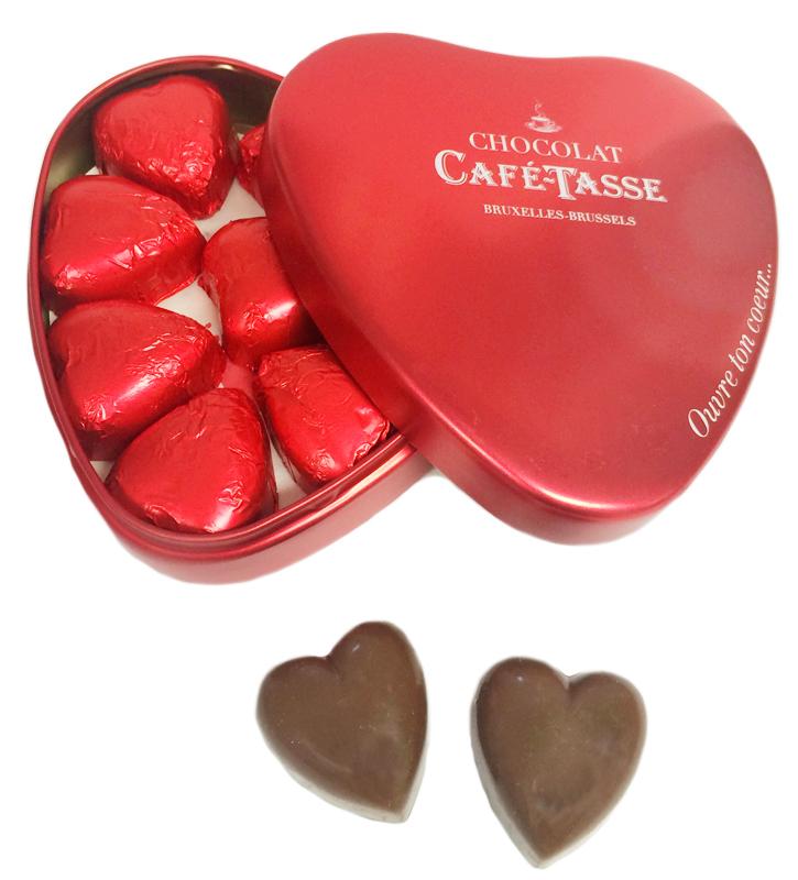 Lyxig chokladpraliner i hjärtanask • Pryloteket