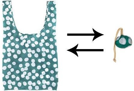 Ihopvikbar shoppingbag (Gul) • Pryloteket