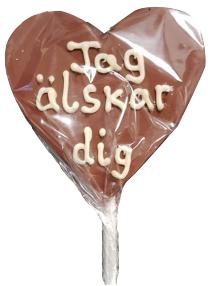 """Chokladklubba """"Jag älskar dig"""" • Pryloteket"""