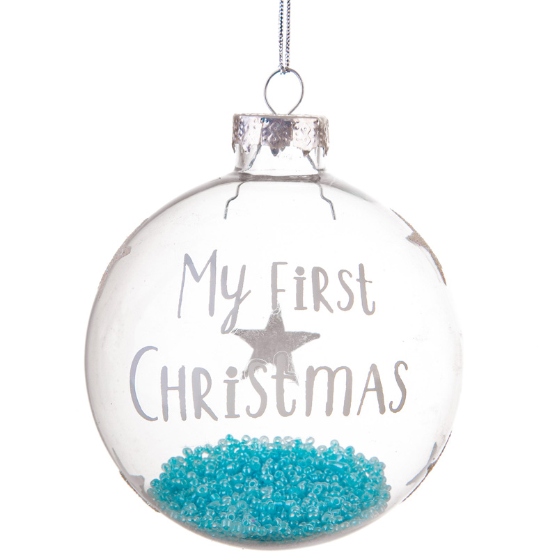 "Julgranskula """"My first Christmas"""", blå"