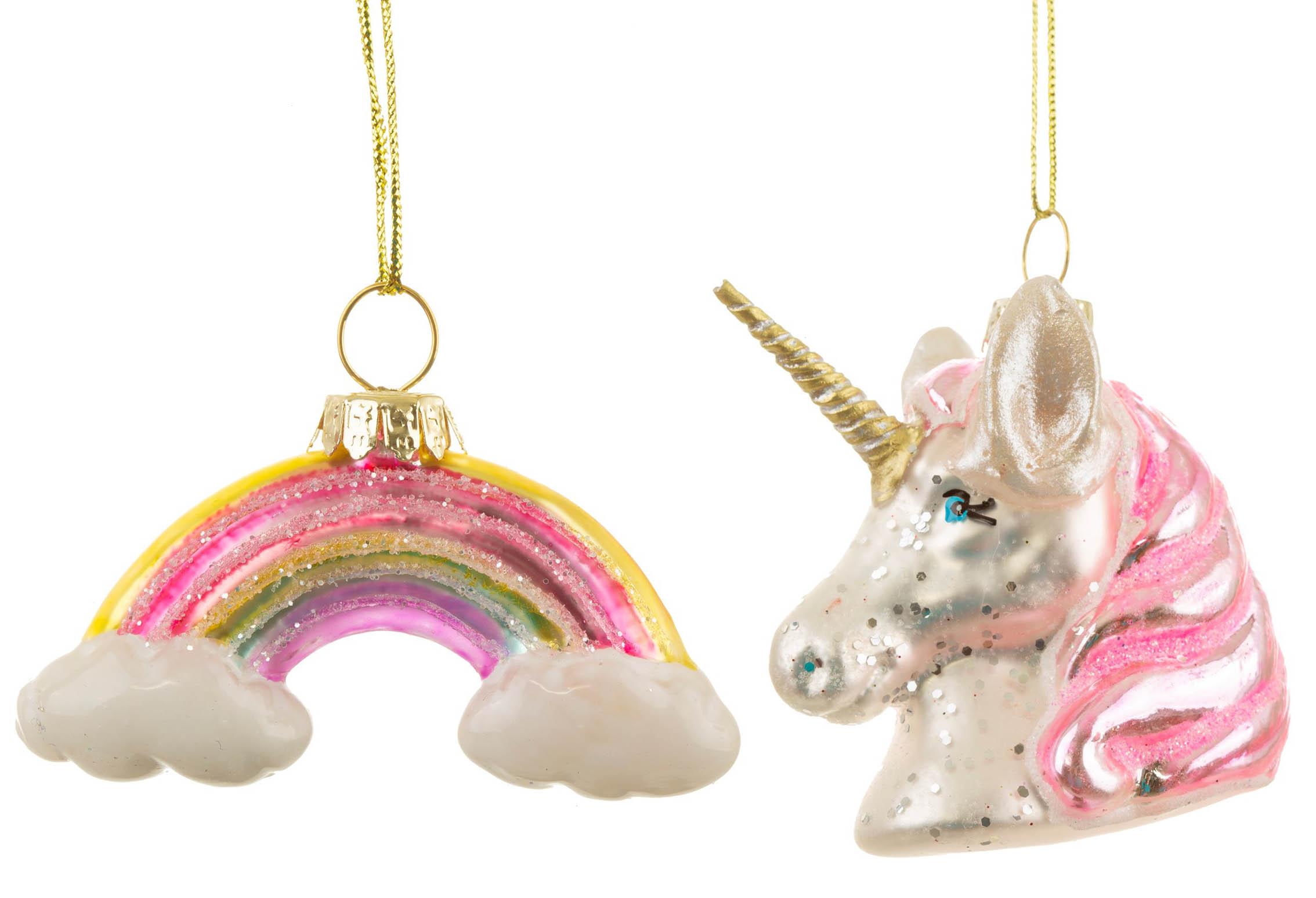 Julgranskulor Rainbow Unicorn • Pryloteket