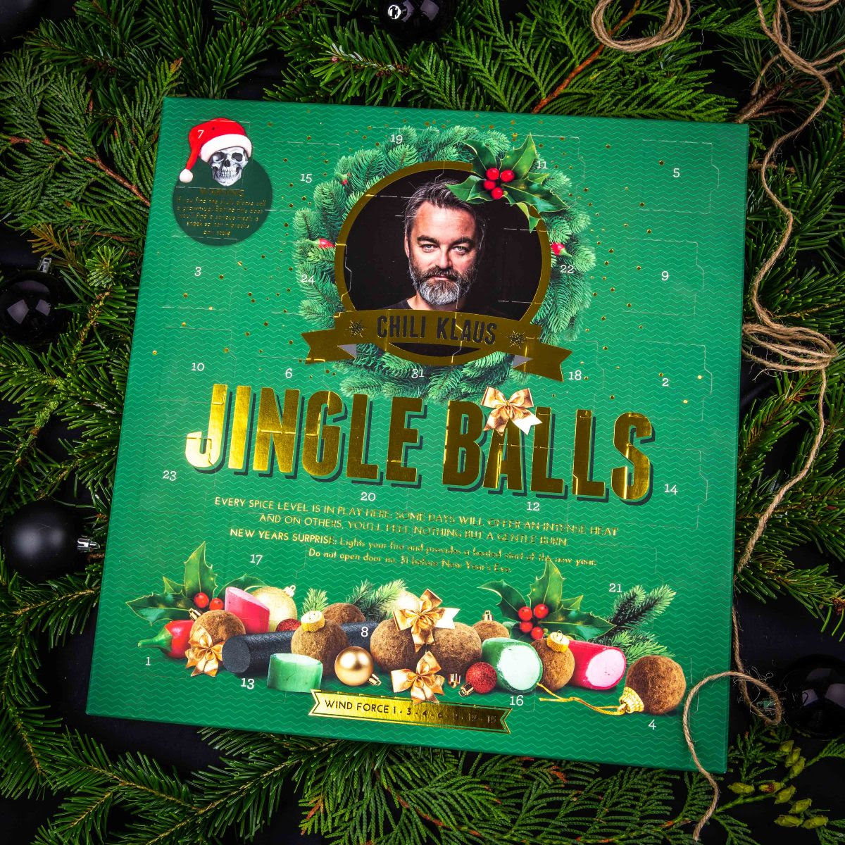 Julkalender Chilipraliner - Chili Klaus (Adventskalender 2019) • Pryloteket