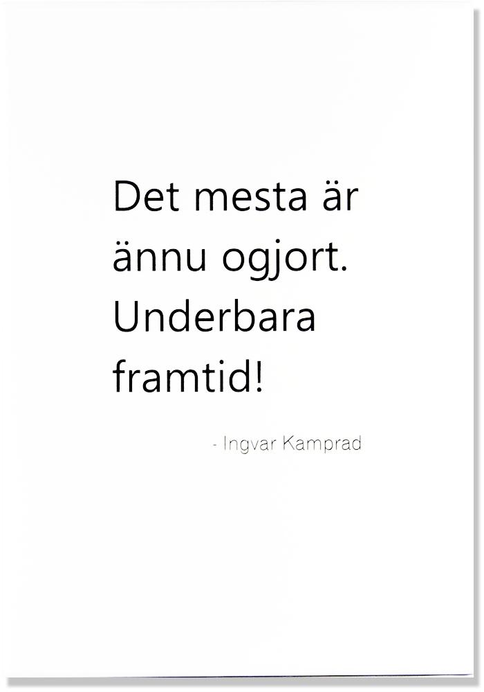 "Tavla ""Underbara framtid"" - Ingvar Kamprad • Pryloteket"