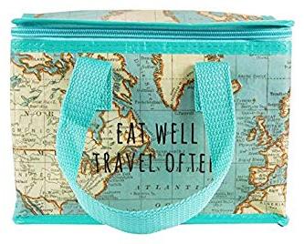"""Lunchväska Karta """"Eat well - Travel often"""""""