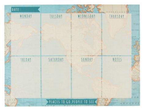 Veckoplanerare Karta • Pryloteket