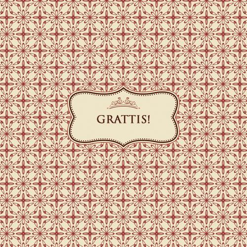"Kort ""Grattis"" • Pryloteket"