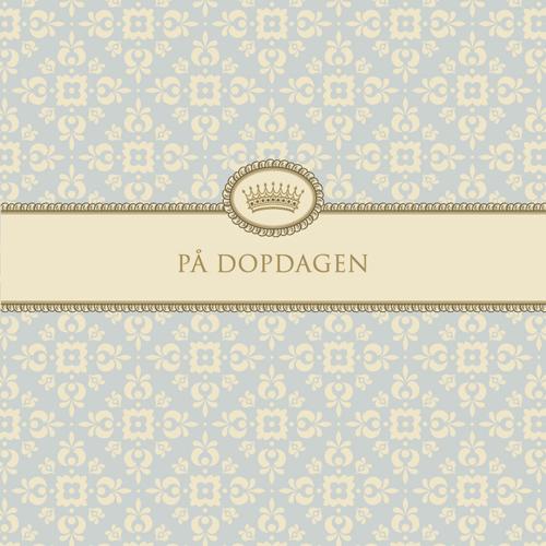 """Kort """"På Dopdagen""""(ljusblå) • Pryloteket"""