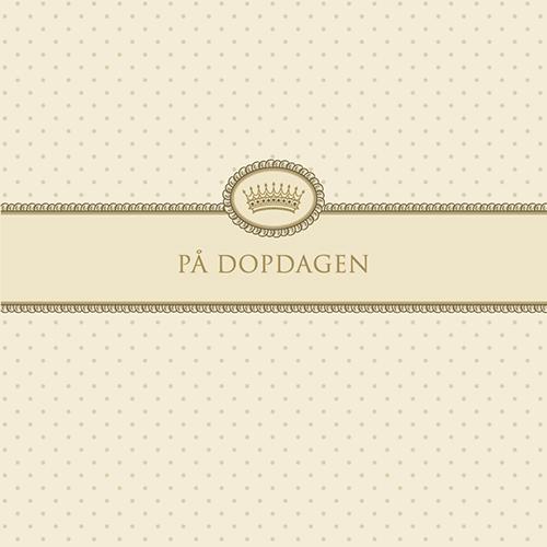 """Kort """"På Dopdagen""""(cremefärgad) • Pryloteket"""